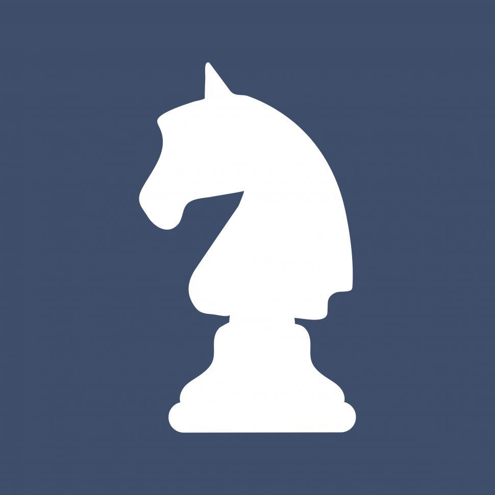 Download Free Stock Photo of The knight chess piece vector icon