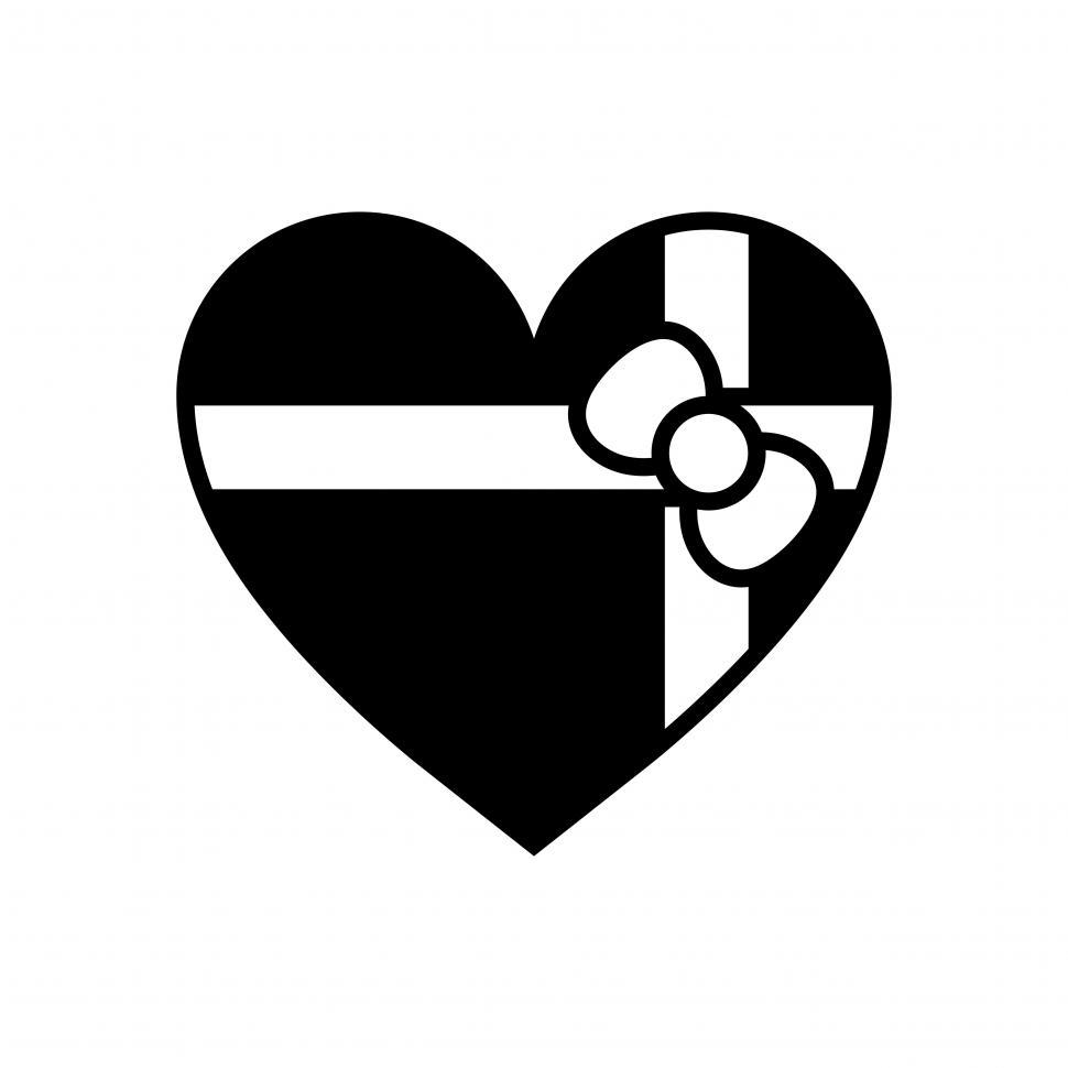 Download Free Stock Photo of Valentine gift heart vector icon