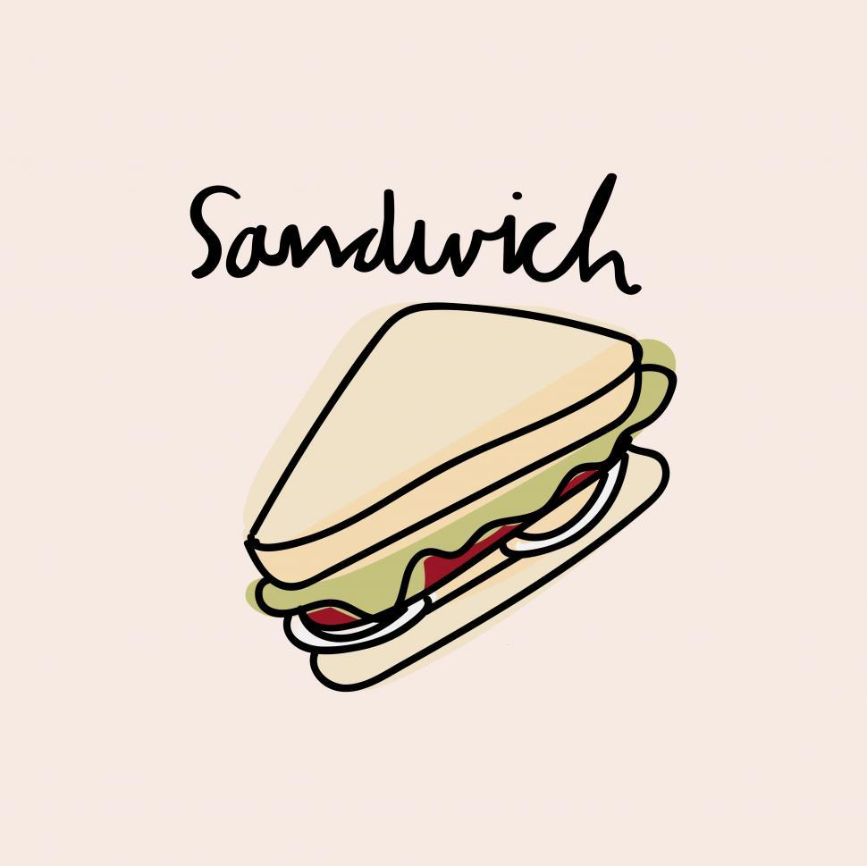 Download Free Stock Photo of Sandwich vector icon