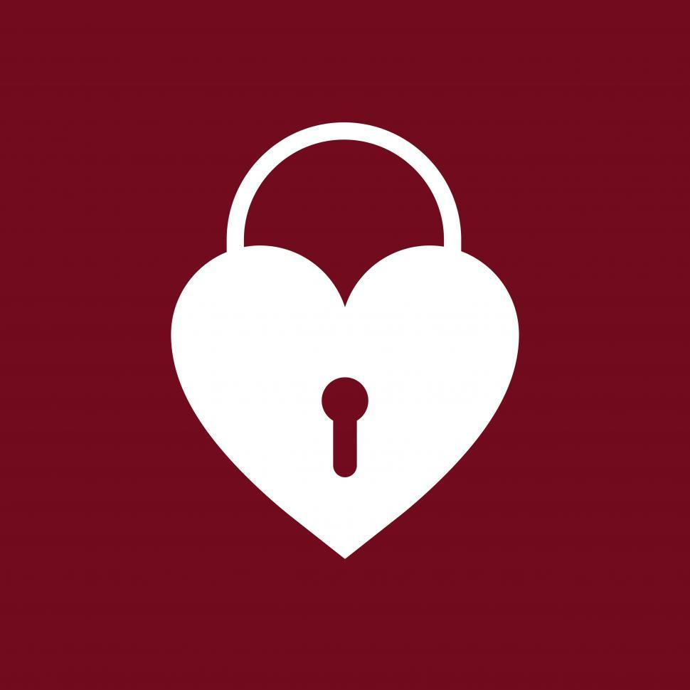 Download Free Stock Photo of Heart shaped lock vector icon