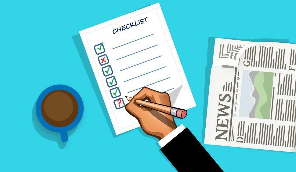Download Free Stock Photo of checklist form