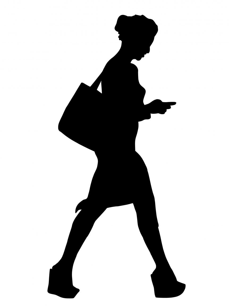 Download Free Stock HD Photo of walking woman Silhouette  Online