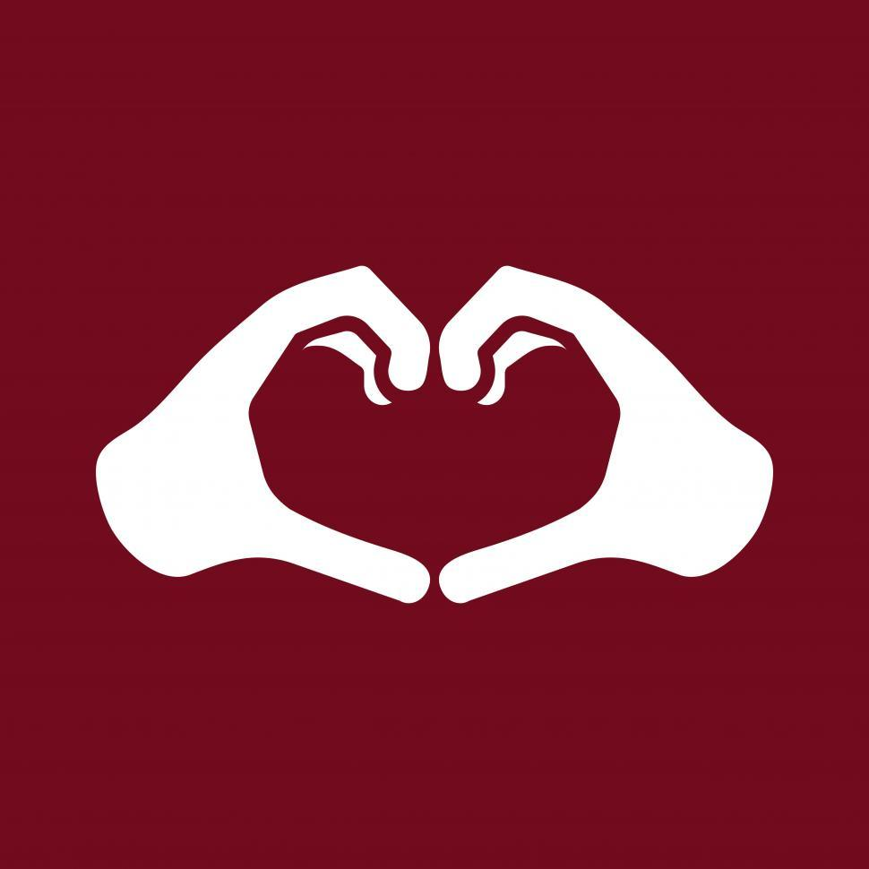 Download Free Stock HD Photo of Hands forming heart shape vector sign Online