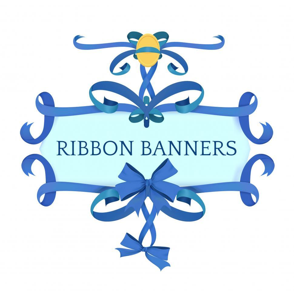 Download Free Stock HD Photo of Ribbon banner icon vector Online