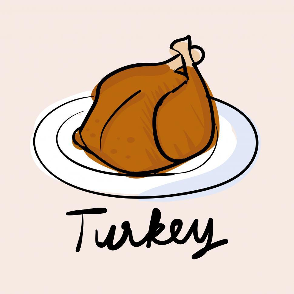 Download Free Stock HD Photo of Roasted turkey vector icon Online