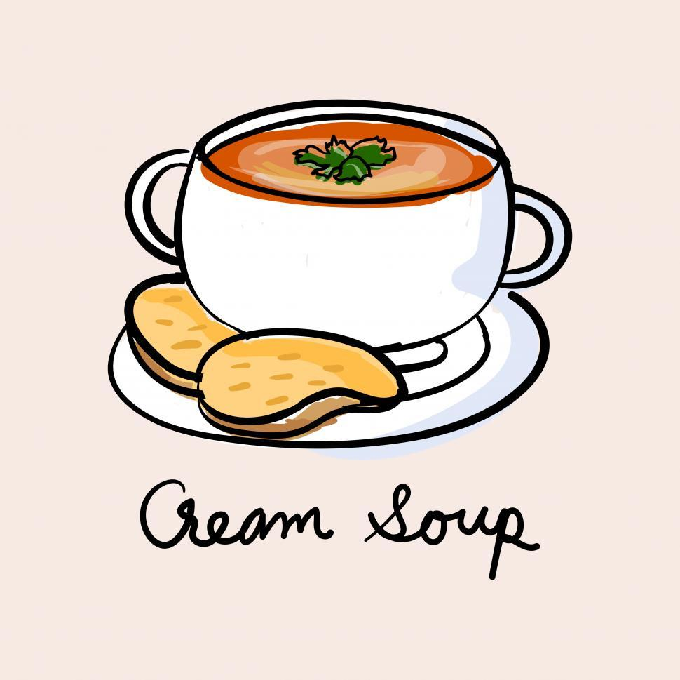 Download Free Stock Photo of Cream soup vector icon