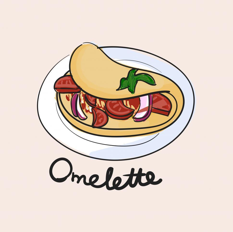 Download Free Stock Photo of Omelette vector icon