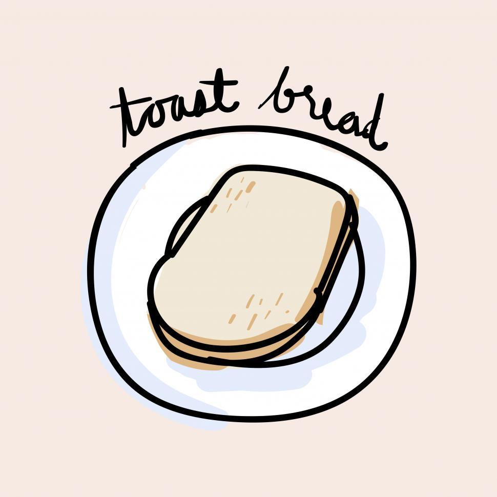 Download Free Stock HD Photo of Toast bread vector icon Online