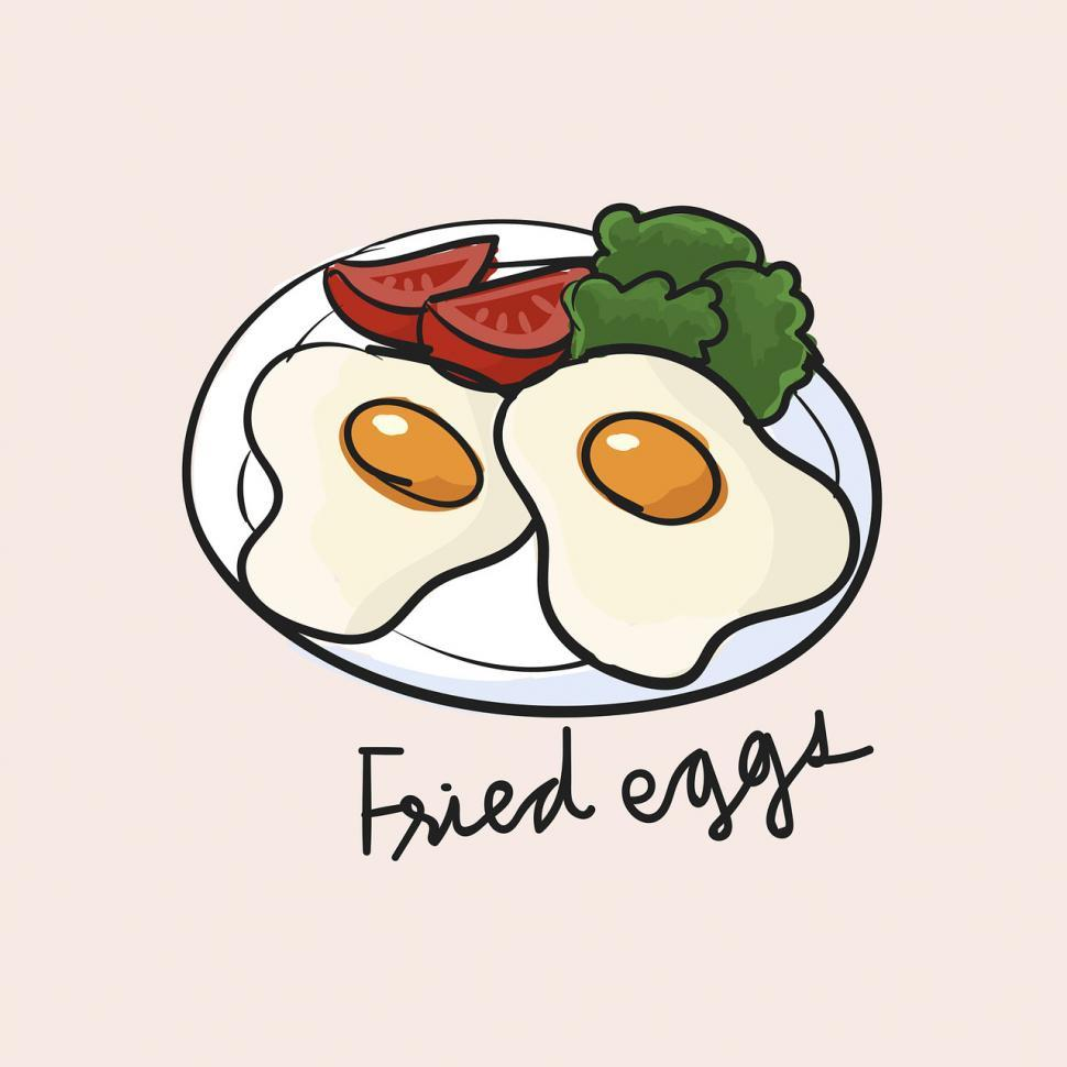 Download Free Stock HD Photo of Fried egg vector icon Online