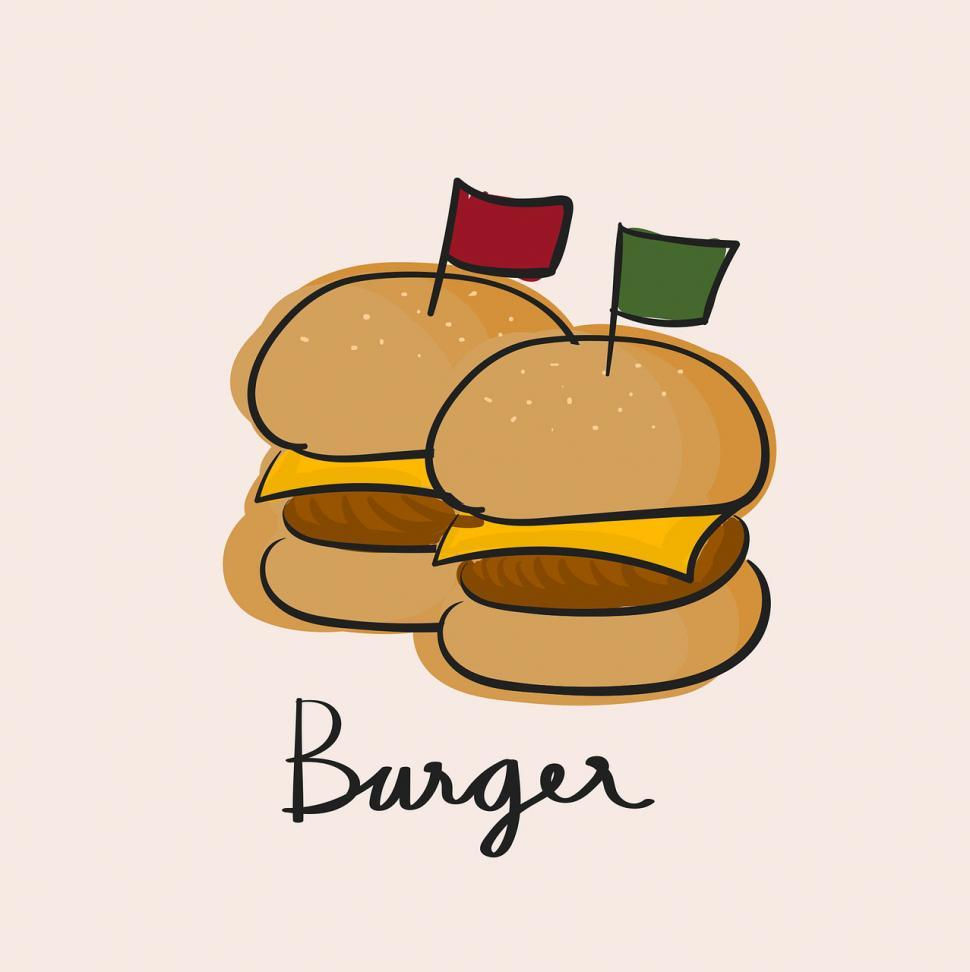 Download Free Stock HD Photo of Burger vector icon Online