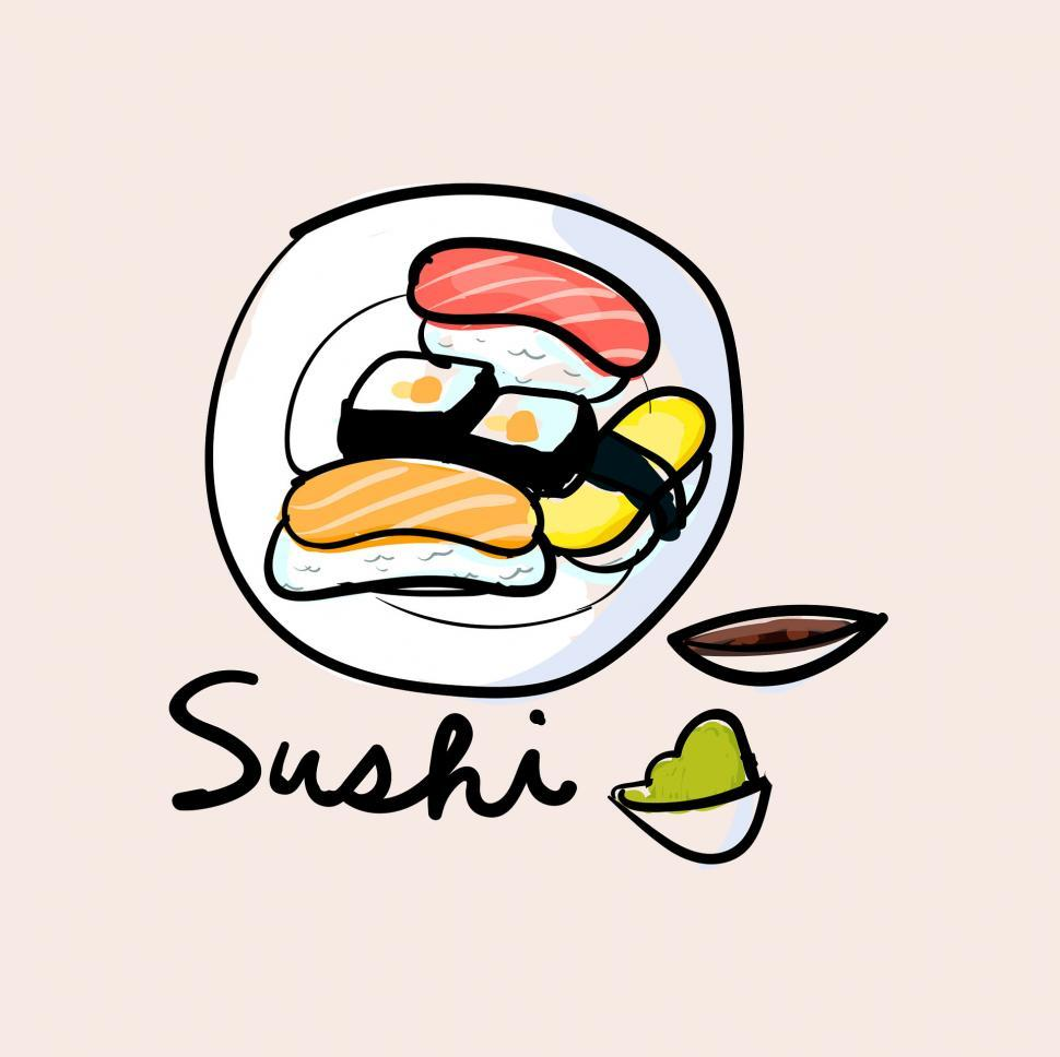 Download Free Stock Photo of Sushi vector icon