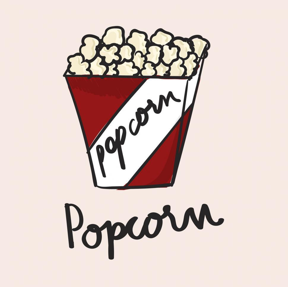 Download Free Stock Photo of Popcorn vector icon