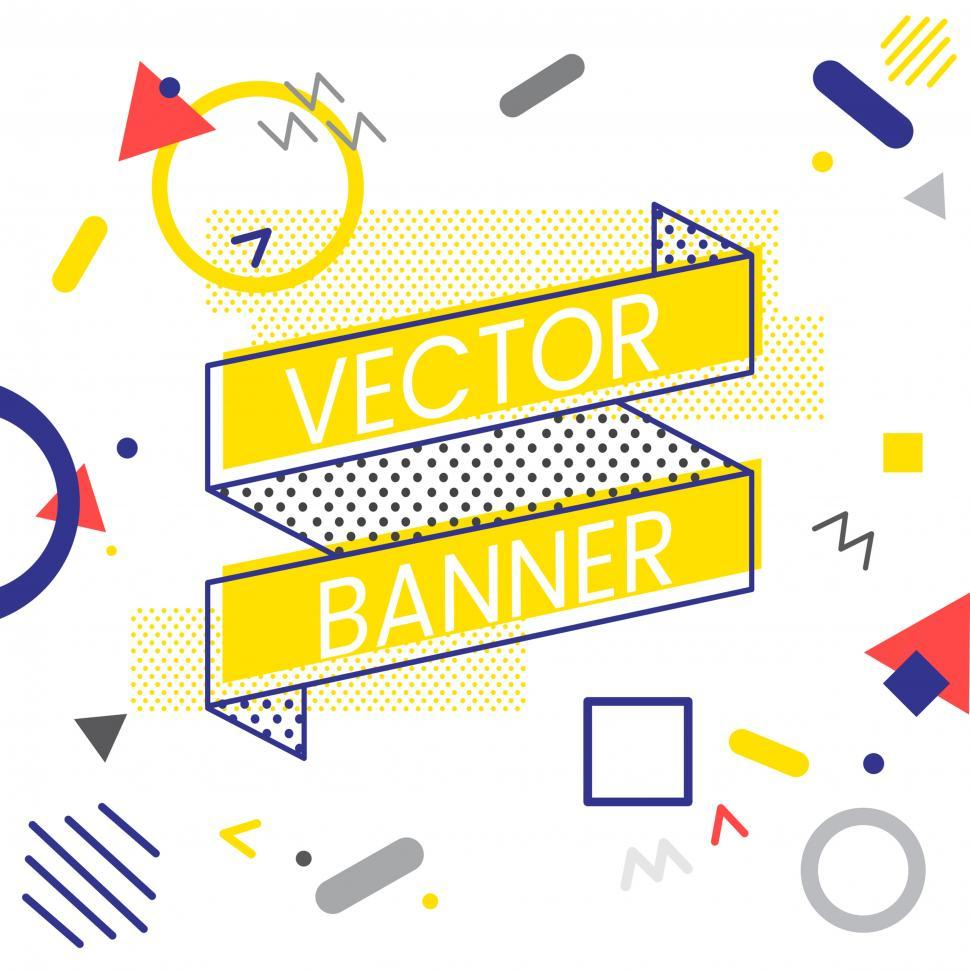 Download Free Stock Photo of Ribbon banner icons vector