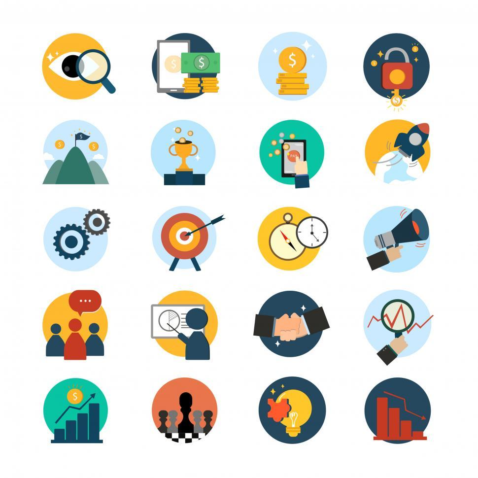 Download Free Stock HD Photo of Various business and finance icons Online