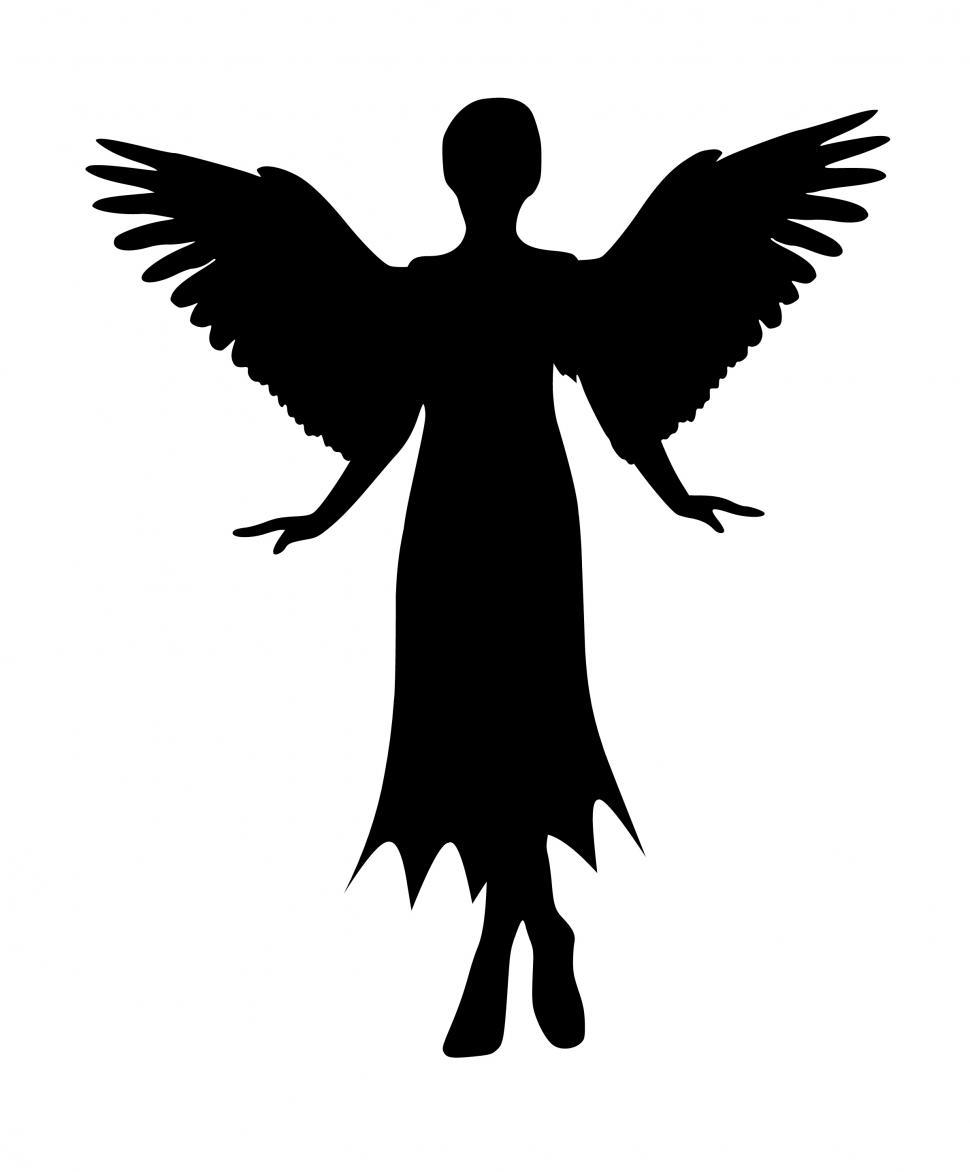 Download Free Stock HD Photo of angel Silhouette  Online