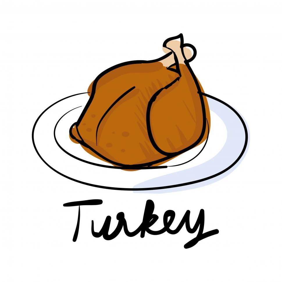 Download Free Stock Photo of Roasted turkey vector icon
