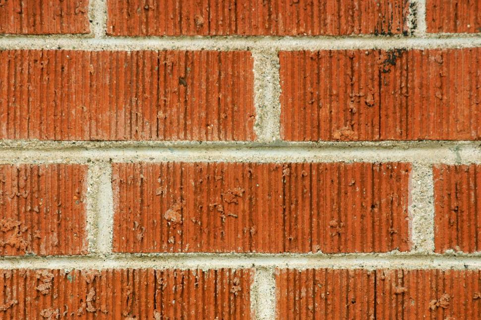 Download Free Stock Photo of Wire Cut Brick Wall