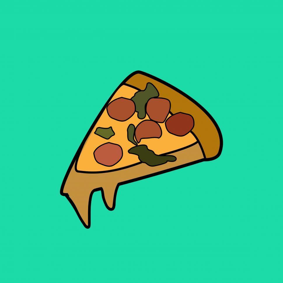 Download Free Stock Photo of Pizza slice vector icon