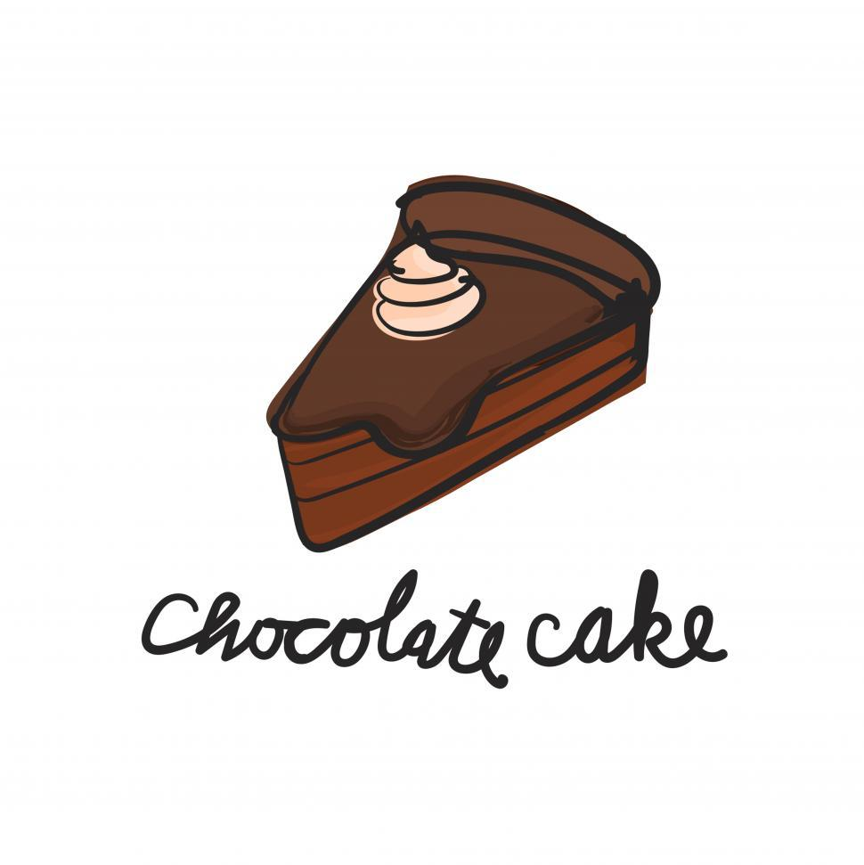 Download Free Stock HD Photo of Chocolate cake vector icon Online