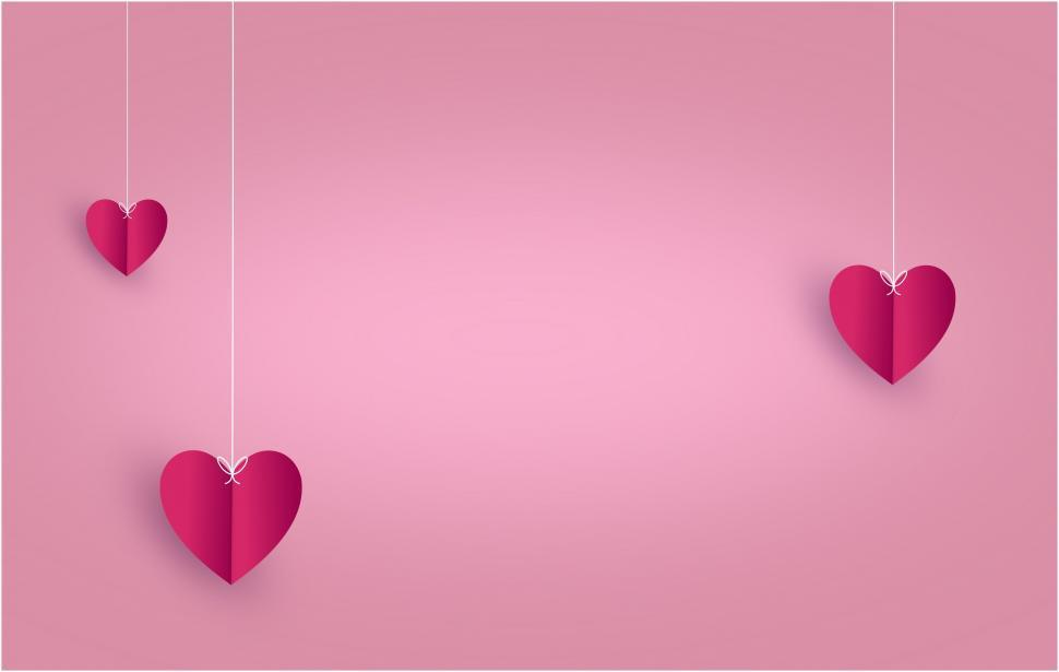 Download Free Stock Photo of Love Concept - Three Hearts - with Copyspace