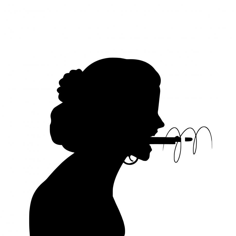 Download Free Stock Photo of angry behavior Silhouette