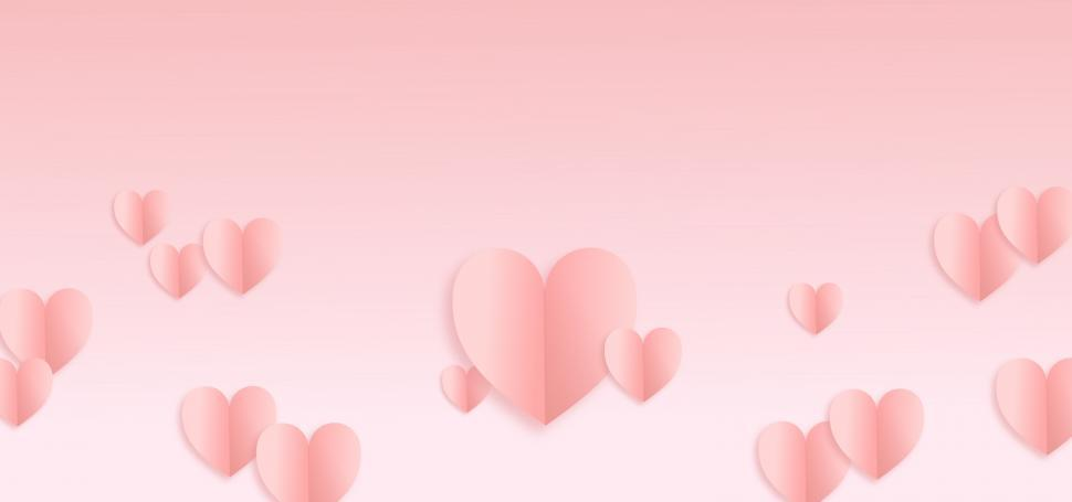Download Free Stock Photo of Valentines Day Pale Background - With Copyspace