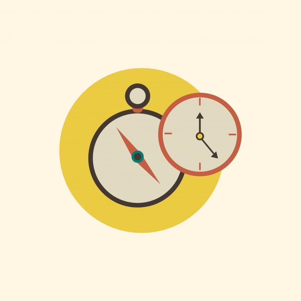 Download Free Stock Photo of Clock and stopwatch vector icon