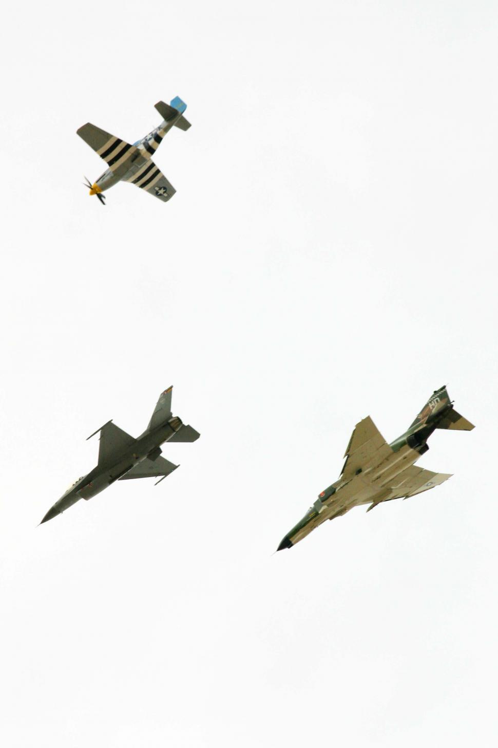 Download Free Stock HD Photo of Formation of Military Planes at Airshow Online