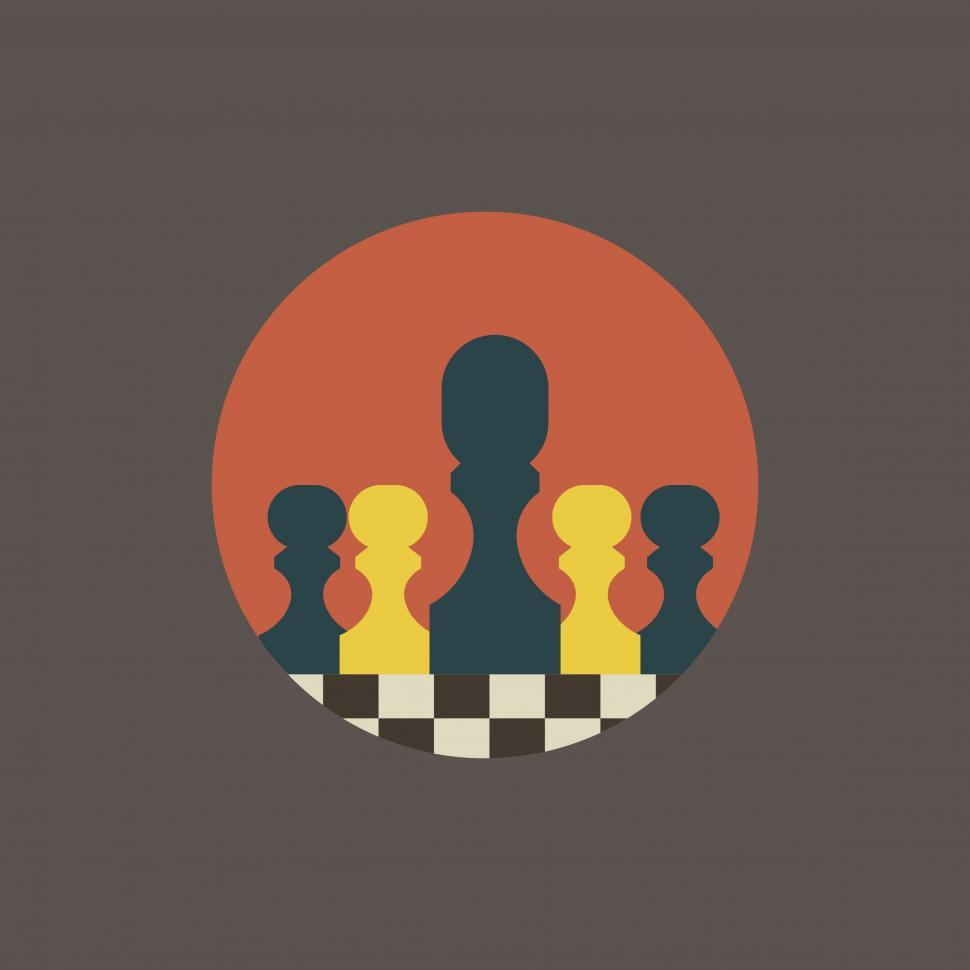 Download Free Stock HD Photo of Chessboard with chess pieces vector icons Online