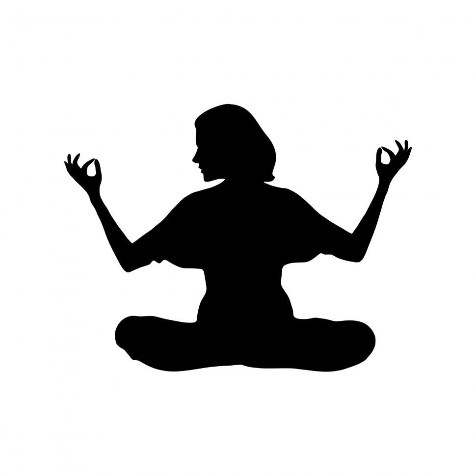 Download Free Stock HD Photo of meditation Silhouette  Online