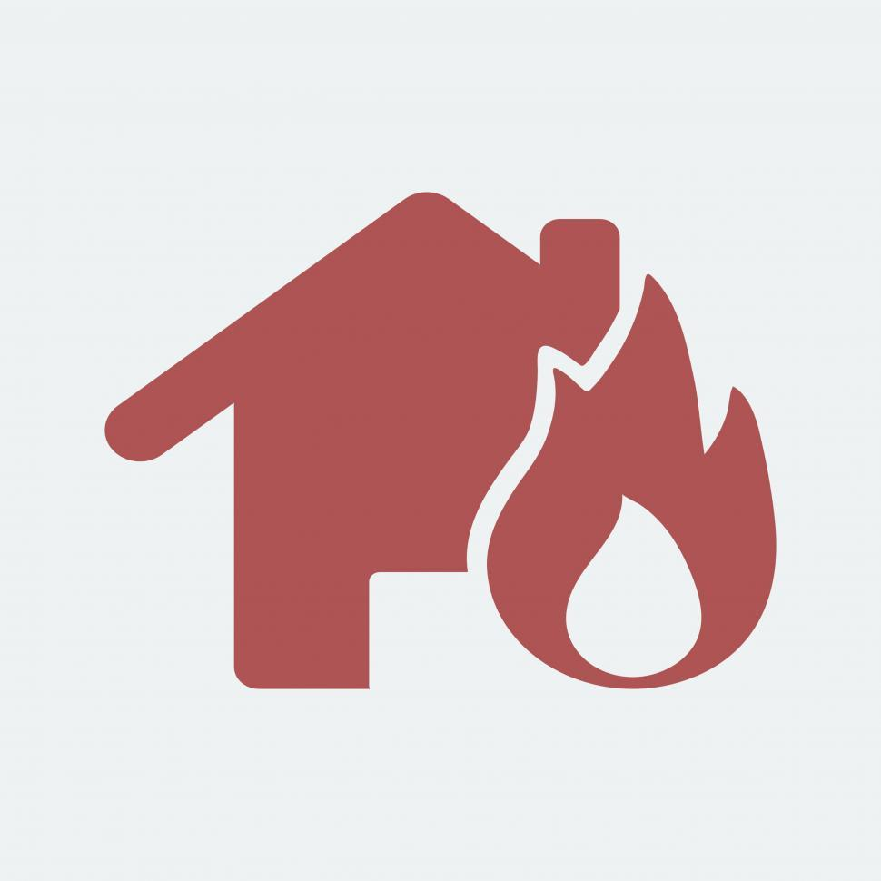 Download Free Stock Photo of Fire insurance vector Illustration icon