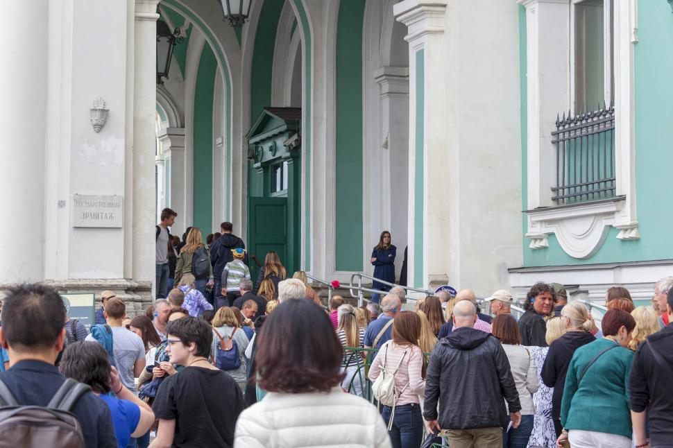 Download Free Stock HD Photo of Hermitage museum crowd Online