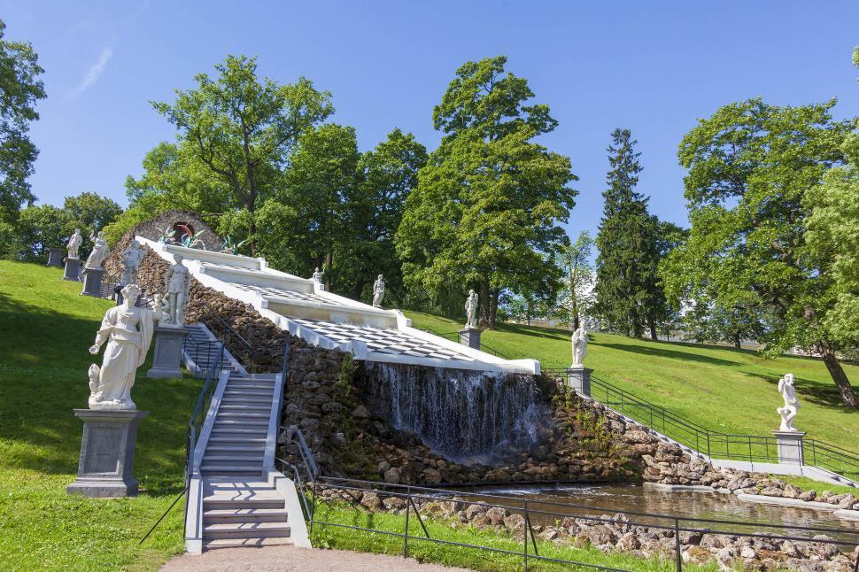 Download Free Stock Photo of Peterhof Palace grounds
