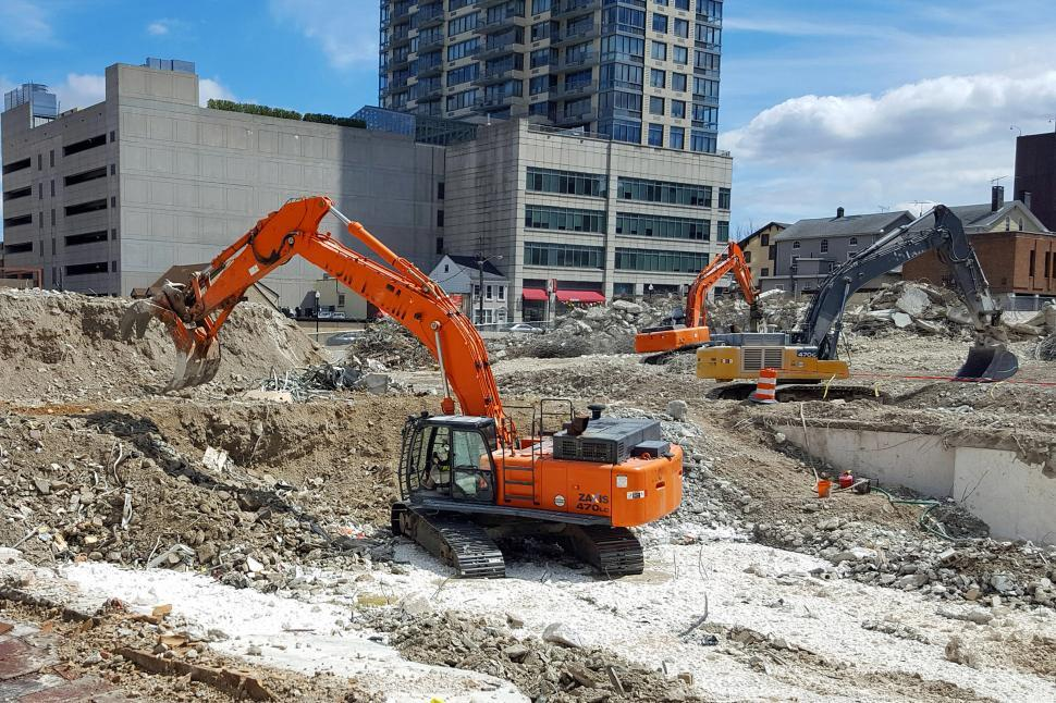 Download Free Stock HD Photo of Construction Excavating Equipment At Work Online