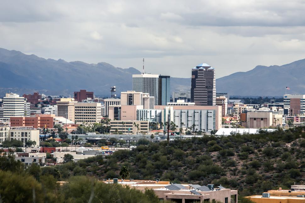 Download Free Stock Photo of Skyline of Tucson, Arizona