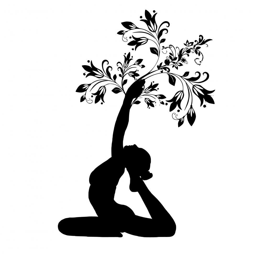 Download Free Stock Photo of yoga tree pose