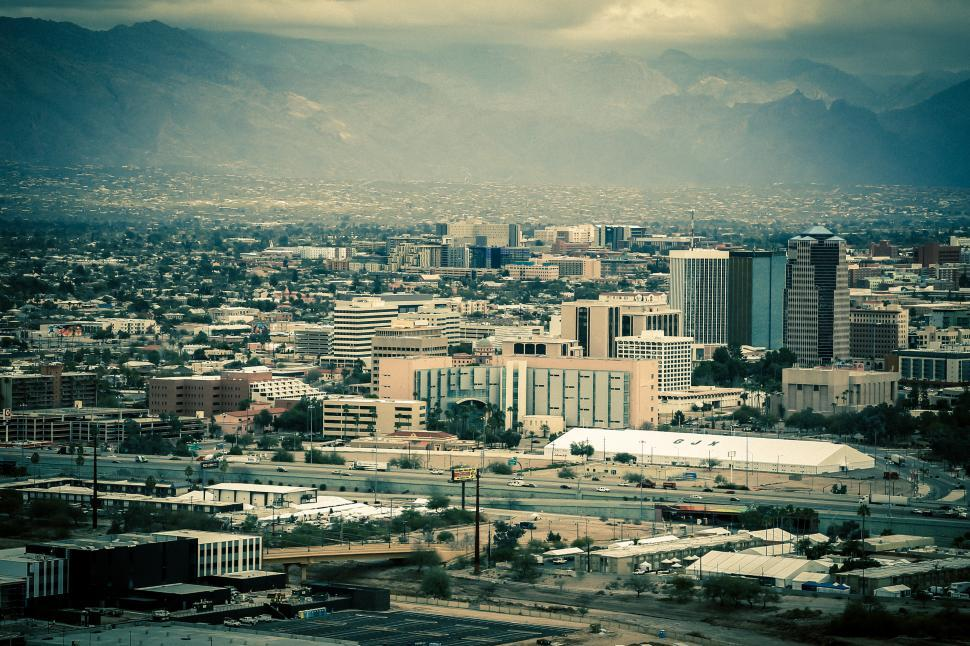 Download Free Stock HD Photo of Colored view of Tucson, Arizona Online