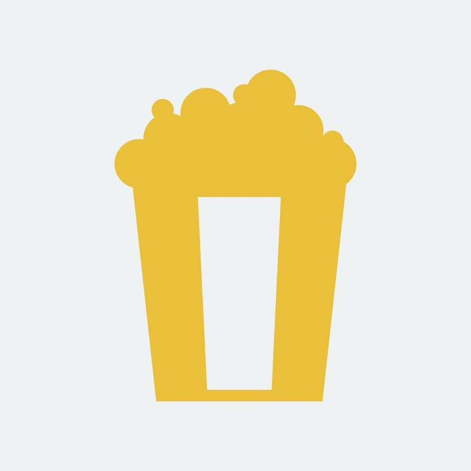 Download Free Stock HD Photo of Popcorn bucket vector icon Online