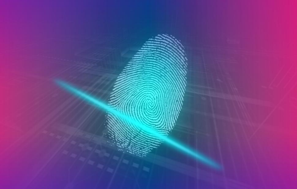 Download Free Stock Photo of Digital Fingerprint - Human Biometrics