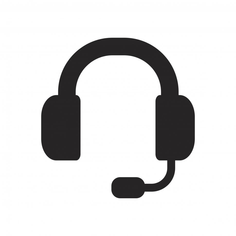 Download Free Stock Photo of Customer support headset icon vector