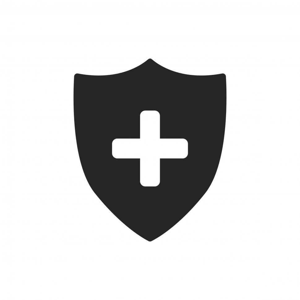 Download Free Stock Photo of Medical shield icon vector