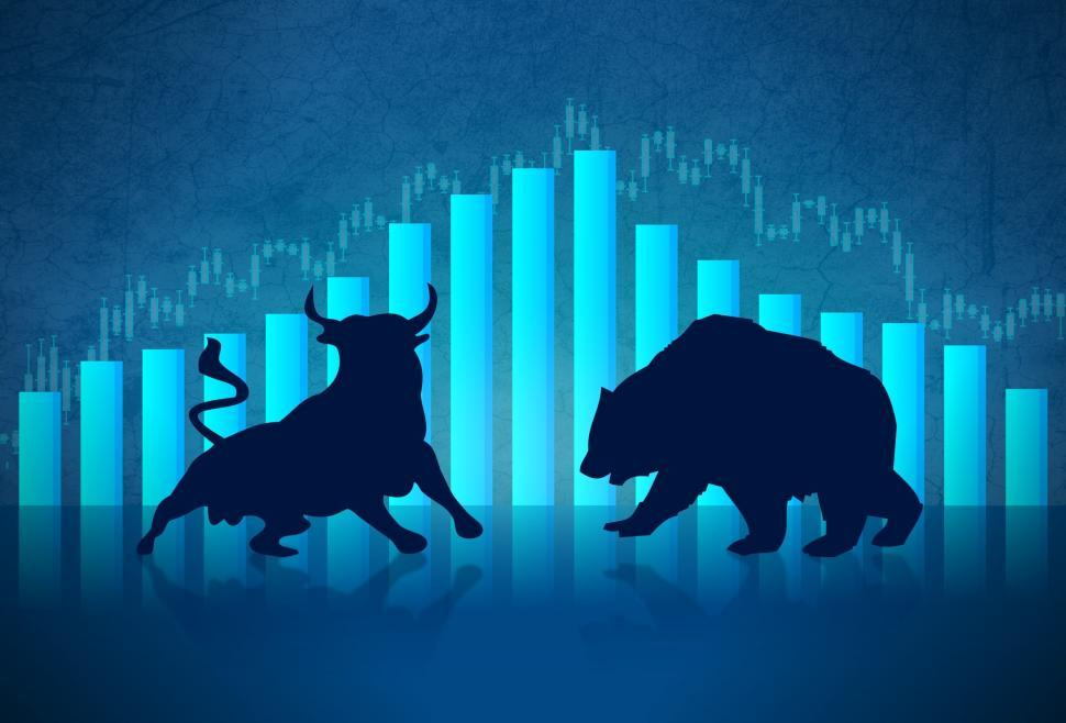 Download Free Stock Photo of Bull versus Bear - Financial Markets Concept