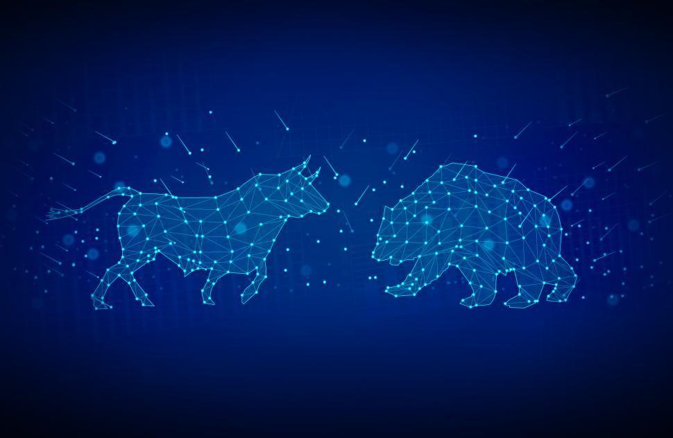 Download Free Stock Photo of Bull versus Bear - Finance