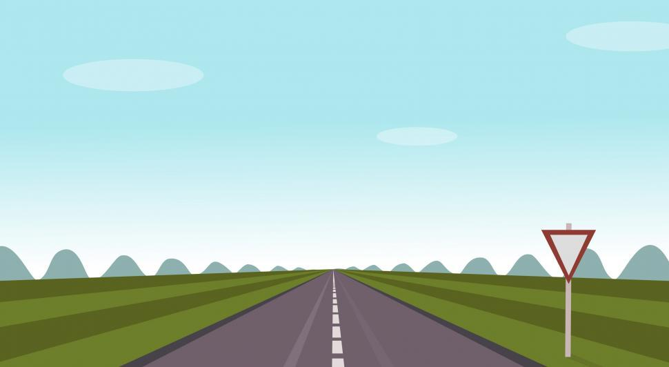 Download Free Stock Photo of Life is a Highway - Concept with Copyspace