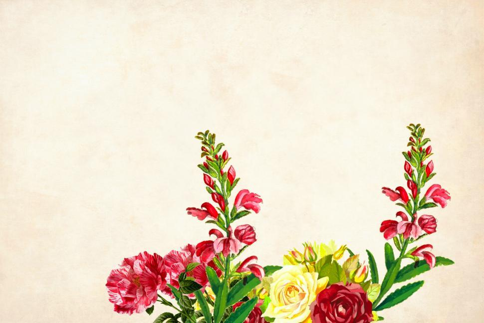 Download Free Stock HD Photo of Flower Background - Grouped at bottom central Online