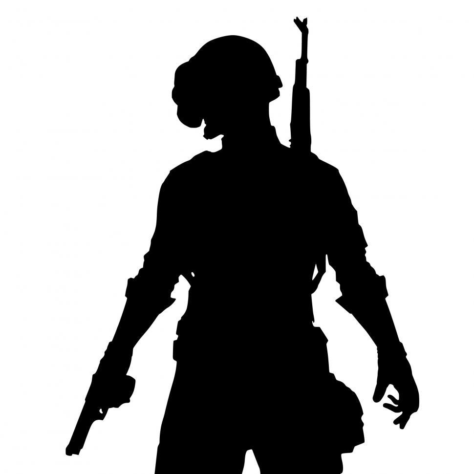 Download Free Stock Photo of pubg game Silhouette