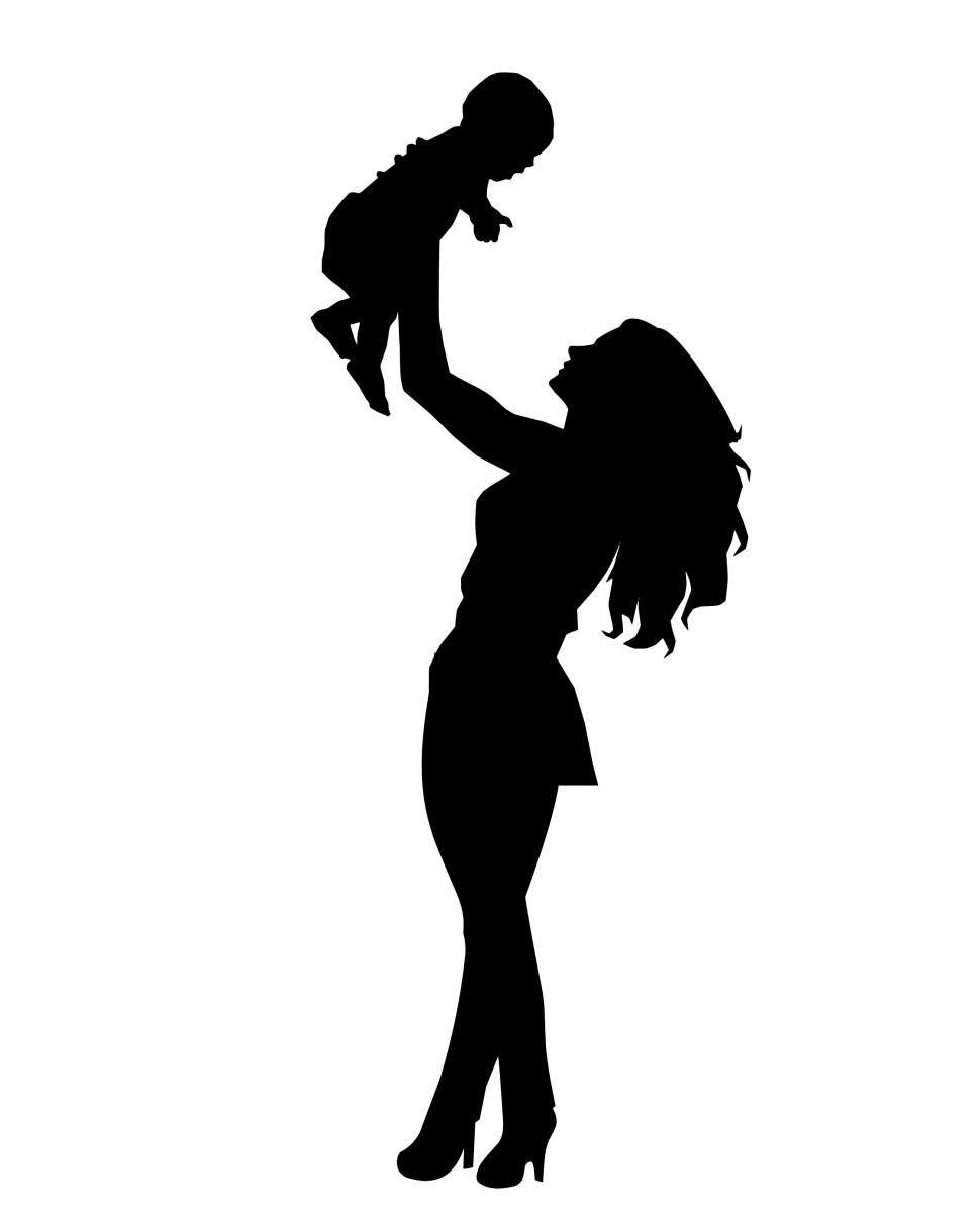 Download Free Stock HD Photo of mother and baby Silhouette  Online