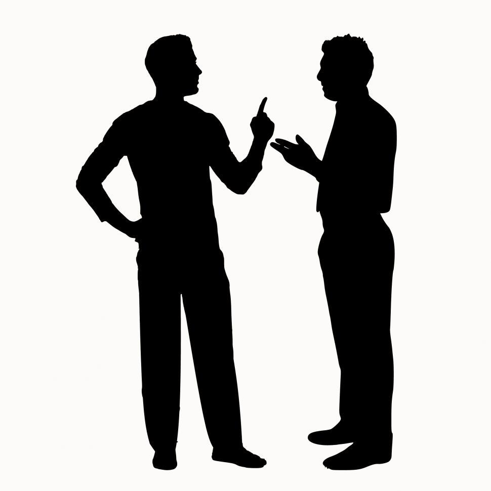 Download Free Stock HD Photo of men argument  Online
