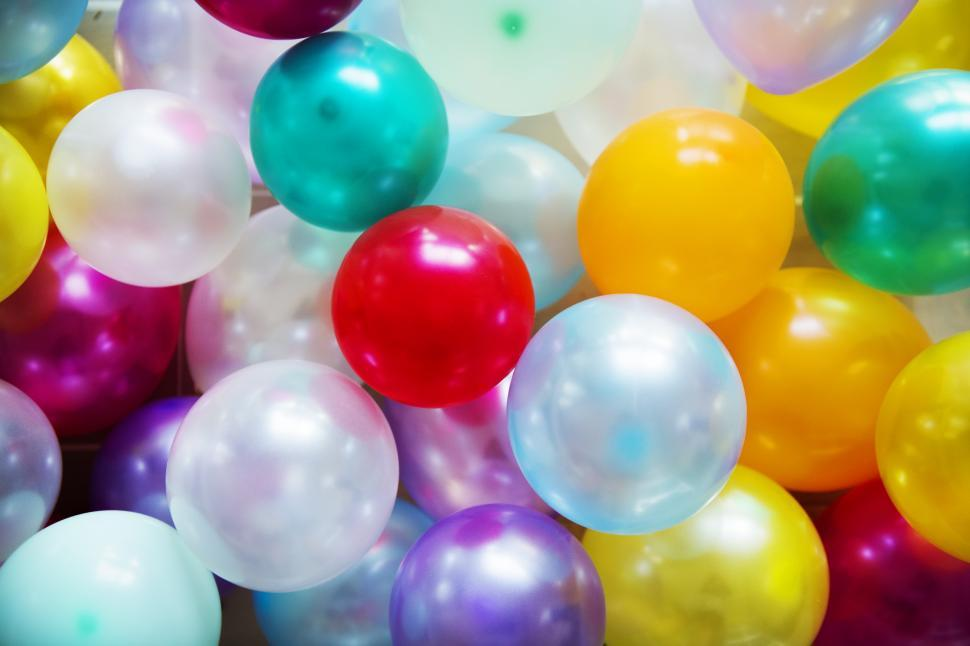 Download Free Stock Photo of Close up of colorful balloons