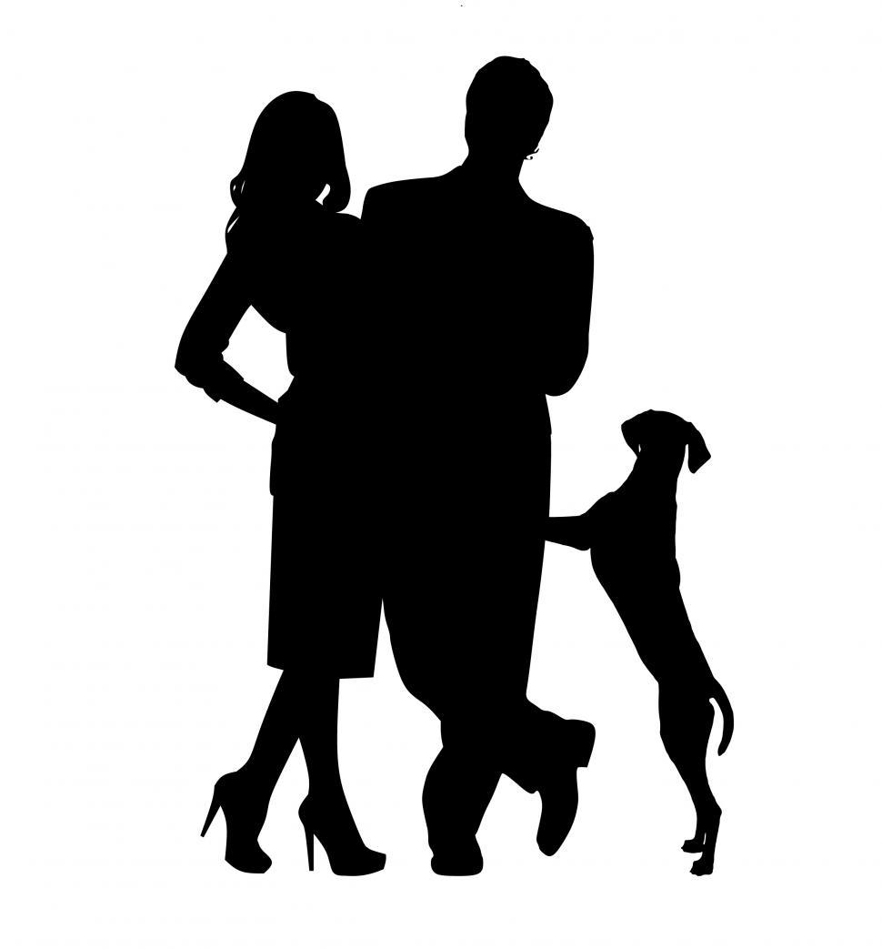 Download Free Stock Photo of man and woman dog